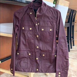 J. Crew burgundy utility jacket
